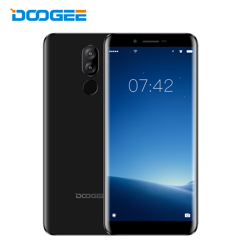 In Stock Doogee X60L 4G LTE Dual Sim Mobile Phone 5.5 Inch 18:9 Smartphone Android 7.0 Nougat 2+16 Fingerprint Cellphone 3300mAh