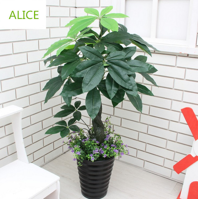 Restaurant Decorated Artificial Plants Living Room Floor Floral Display Fake  Tree Bonsai Pot 90cm