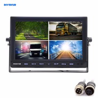 4CH 4PIN DC12V 24V 10 Inch 4 Split Quad LCD Screen Display Color Rear View Monitor