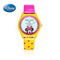Fashion Girls Watch Cartoon Anime Watches Child Girls Waterproof Wristwatches Mickey Mouse Leather Quartz Clock 100