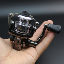 Ice Fishing Reel Mini Spinning Reels Small Zinc Alloy All Metal Spool Delicate Front Drag MN100