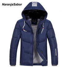 NaranjaSabor Winter Men's Jacket 2017 Brand Clothing Mens Jackets Men's Casual Coats Thick Parkas Men Outwear 4XL Hoodie Jacket