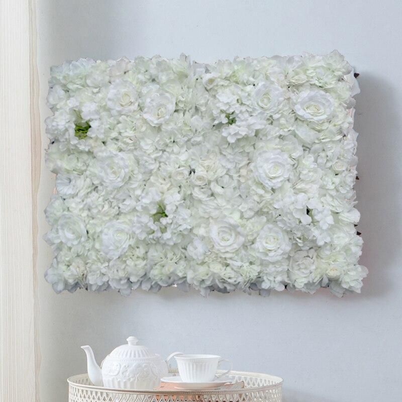 40*60 cm weiß Künstliche rose hortensien Blume Wand Hochzeit Hintergrund Dekoration Rasen Säule Straße Führen Blume Seide hortensien