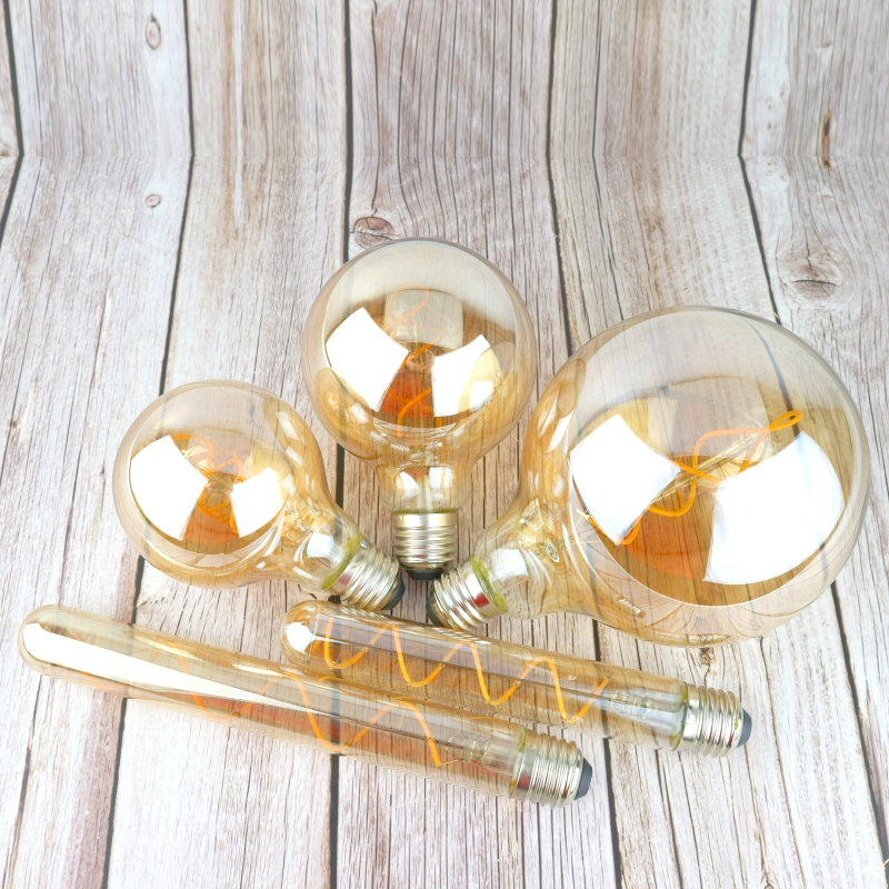 Image 4 - Retro Vintage Edison Bulb 4W 220V Dimmable Edison lamp E14 E27 2200K LED Spiral Filament Light Bulb Led Retro Lamp Decor-in LED Bulbs & Tubes from Lights & Lighting