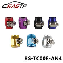 RASTP-Universal Racing AN4 13mm Straight Hose End Clamp Fittings  JDM HEX Finishers Fuel Oil Water Pipe RS-TC008-AN4