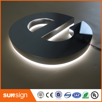 цены 316 SUS polished stainless steel letters