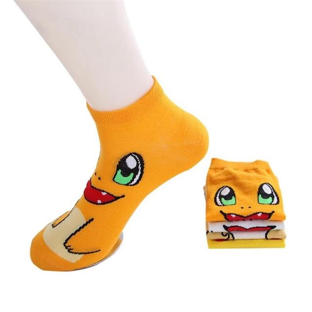 Pokemon Pikachu Charmander Psyduck Squirtle Casual Kawaii Socks