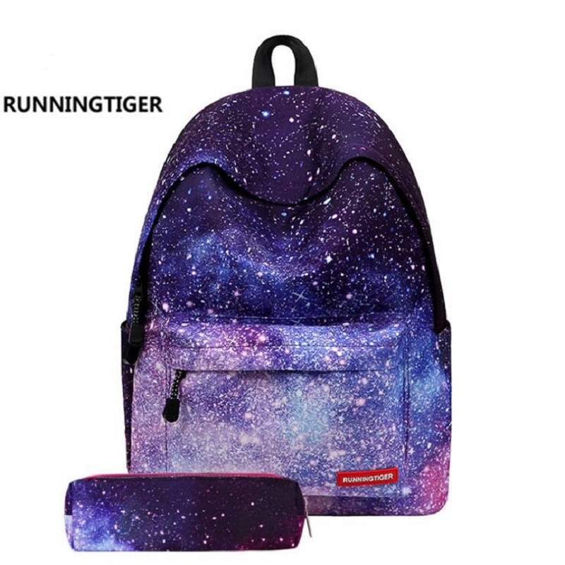 Star Universe Printing Women font b Backpack b font Children School Bags For Teenager Girls font