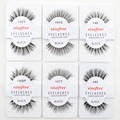12 pairs Visofree Lashes Soft False Human Hair Eyelashes Adhesives Glamour Fake Eye Lashes Makeup Wispies