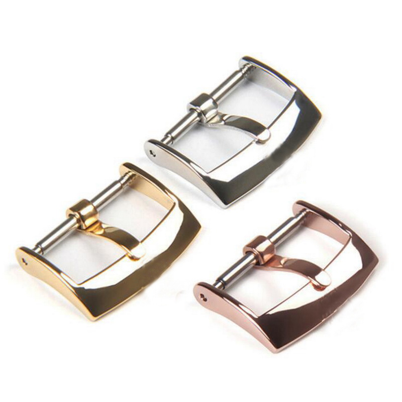 16mm 18mm 20mm 316L Stainless Steel Watch Band Buckle Strap Clasp Replacement For Rolex Men Women