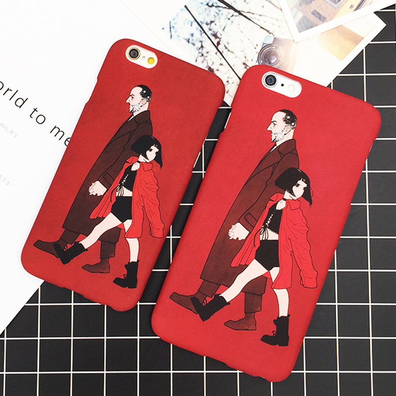 For iPhone 5 5S SE 6 6S Plus Cover Classic Old Movie The Professional Killer Leon and Mathilda Soft Scrub Thin Phone Case YC1969