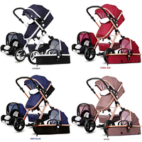 New Arrival Brand baby strollers 3 in 1 baby carriage super light baby strollers EU standard 2 in 1 baby strollers