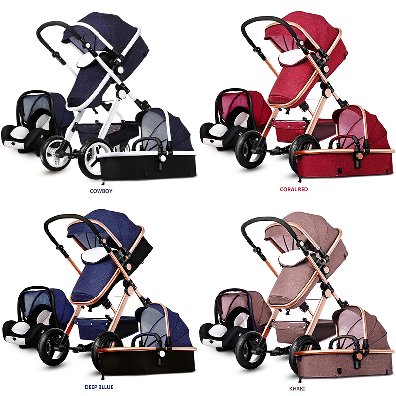 New Arrival Brand baby strollers 3 in 1 baby carriage super light baby strollers EU standard 2 in 1 baby strollers ...
