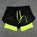 2016 Mujeres Artículos de Fitness Shorts de Verano Estilo Hollow Out Pantalones Cortos de Entrenamiento de Fitness Casual 5 Colores