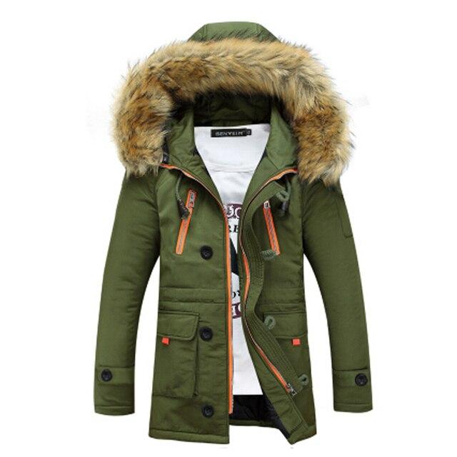 Бесплатная доставка 2015 осень и зима взрыва моделей мужской моды случайные хлопка с капюшоном с длинным пальто тенденция