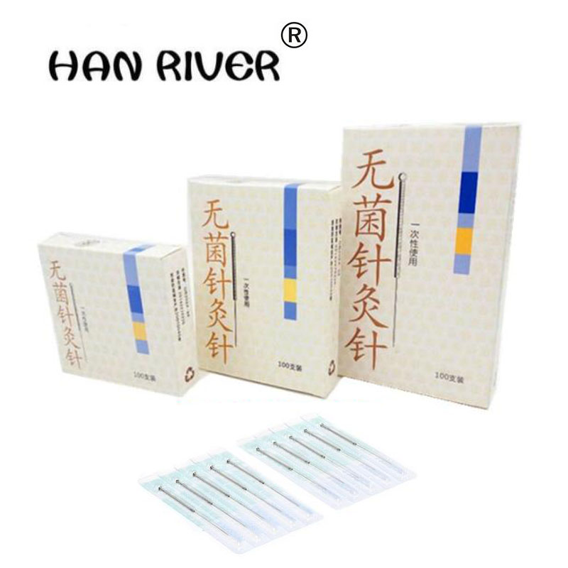 Body massager disposable sterile acupuncture needle 100 a box of the silver needle insertion Yunlong sterile needle independent