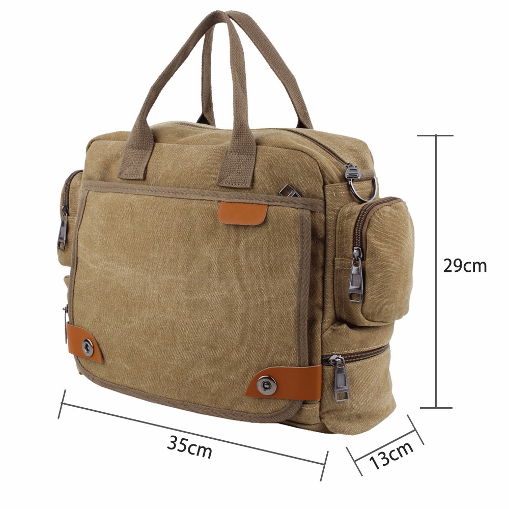 Mens Laptop Messenger Bag Canvas Business Briefcase Handbag Shoulder Phone Computer Notebook Case For Dell Hp Lenovo In Bags Cases From