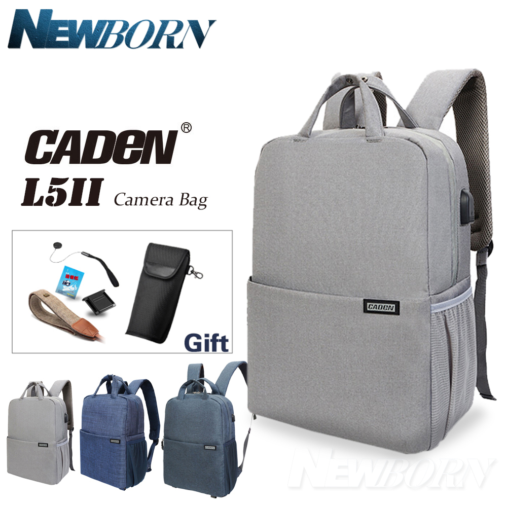CADeN L5II Anti-theft DSLR Camera Bag Backpack Multifunction Travel Outdoor Waterproof Tablet Laptop Bag for Sony Canon Nikon dslr camera backpack padding lens divider insert bag with 15 laptop pack travel bag for canon 5d 7d 600d nikon d7200 sony a6000