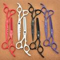 6'' 17.5cm Purple Dragon JP 440C Hairdressing Scissors Cutting Shears Thinning Scissors Z1010 Professional Human Hair Scissors