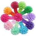 Stylish 10 Pcs/lot Babys Lovely Hairbands Girls cute Headband Chiffon Flower headwear for infant hair accessories