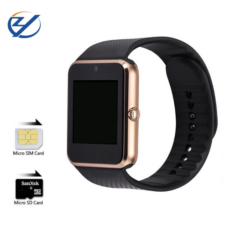 ZAOYIMALL Bluetooth smart watch GT08 wearable devices support SIM TF Card for iphone huaiwei