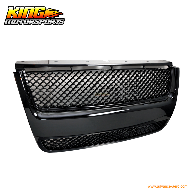 For 2007 2010 Ford Explorer Sport Trac Mesh Black Hood
