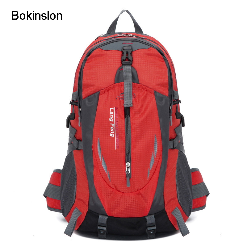 Bokinslon Fashion Men Backpack High Capacity 40 L Nylon Mountaineering Bag Man Casual Travel Bags Brand backpack fashion student school bags nylon waterproof mountaineering bags backpacks laptop bag high capacity casual travel bag
