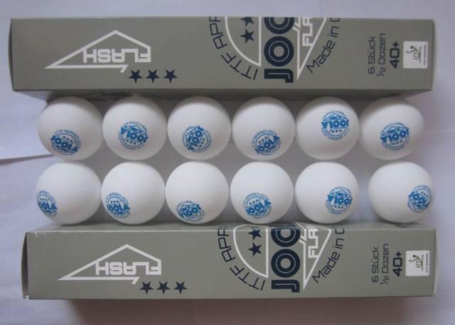 Original 12 Balls/lot JOOLA 3Star Plastic Table Tennis Balls Seamless 40+ New Material White Ping Pong Balls ITTF Approved