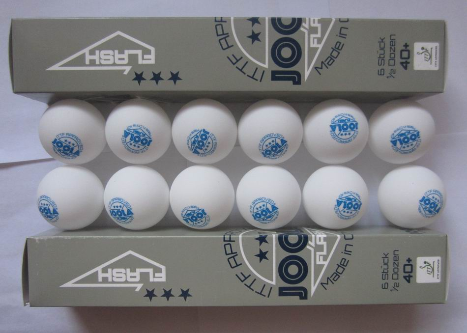 Original 12 Balls/lot JOOLA 3Star Plastic Table Tennis Balls Seamless 40+ New Material White Ping Pong Balls ITTF Approved