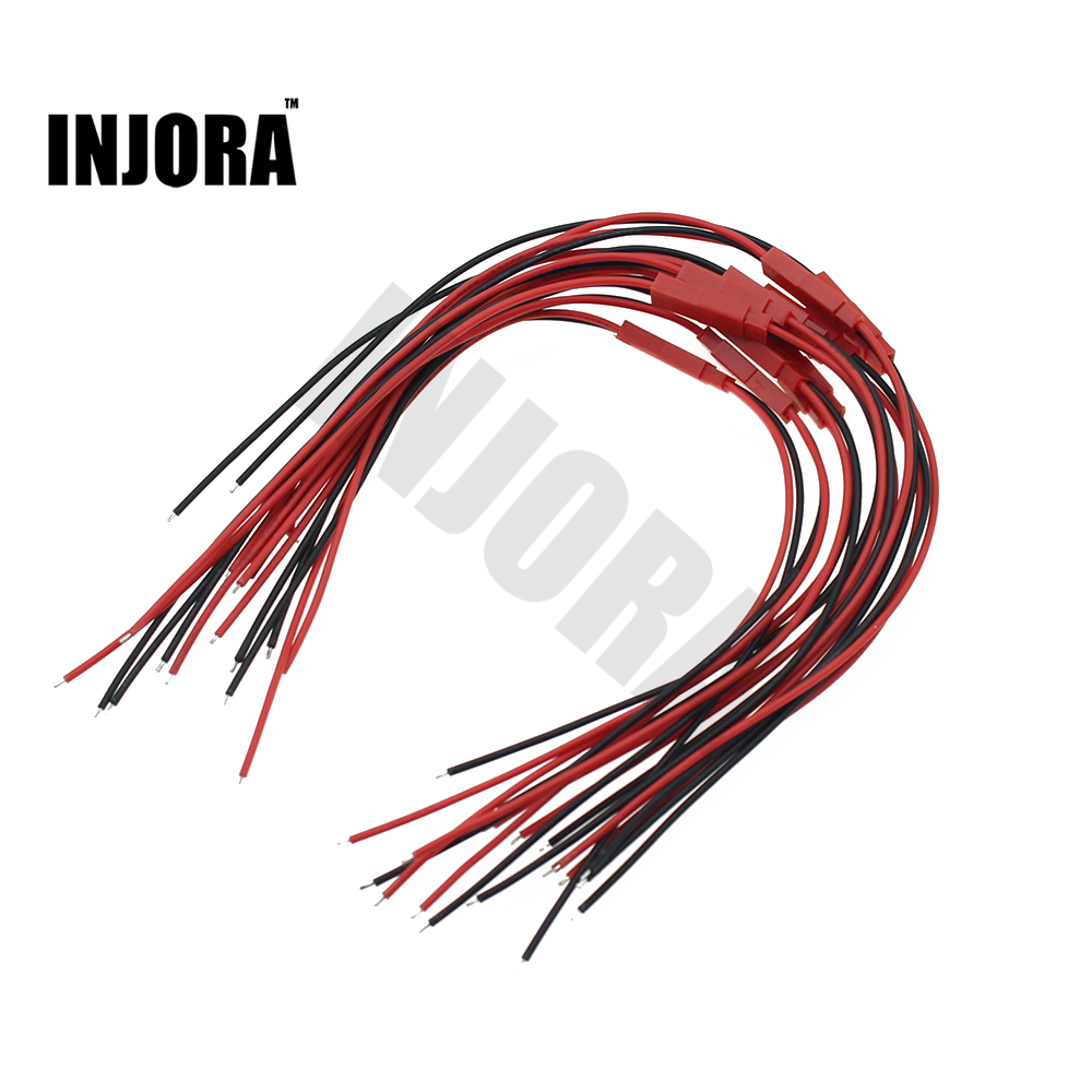 INJORA 10Pairs 150mm Male And Female JST Connector Plug For RC Lipo Battery RC Drone Car Boat Model