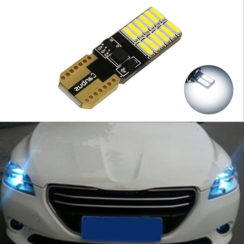 1x T10 LED W5W LED Car LED 12V Auto <font><b>Lamp</b></font> Clearance Light Parking For <font><b>Peugeot</b></font> 307 206 <font><b>301</b></font> 207 2008 508 <font><b>301</b></font> 3008 406 507 208 image