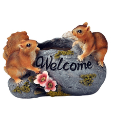 Creative Simulation Cute Animal Figurine Resin Crafts Ornament Miniatures Decoration Balcony Garden Flower Pot Room Accessories