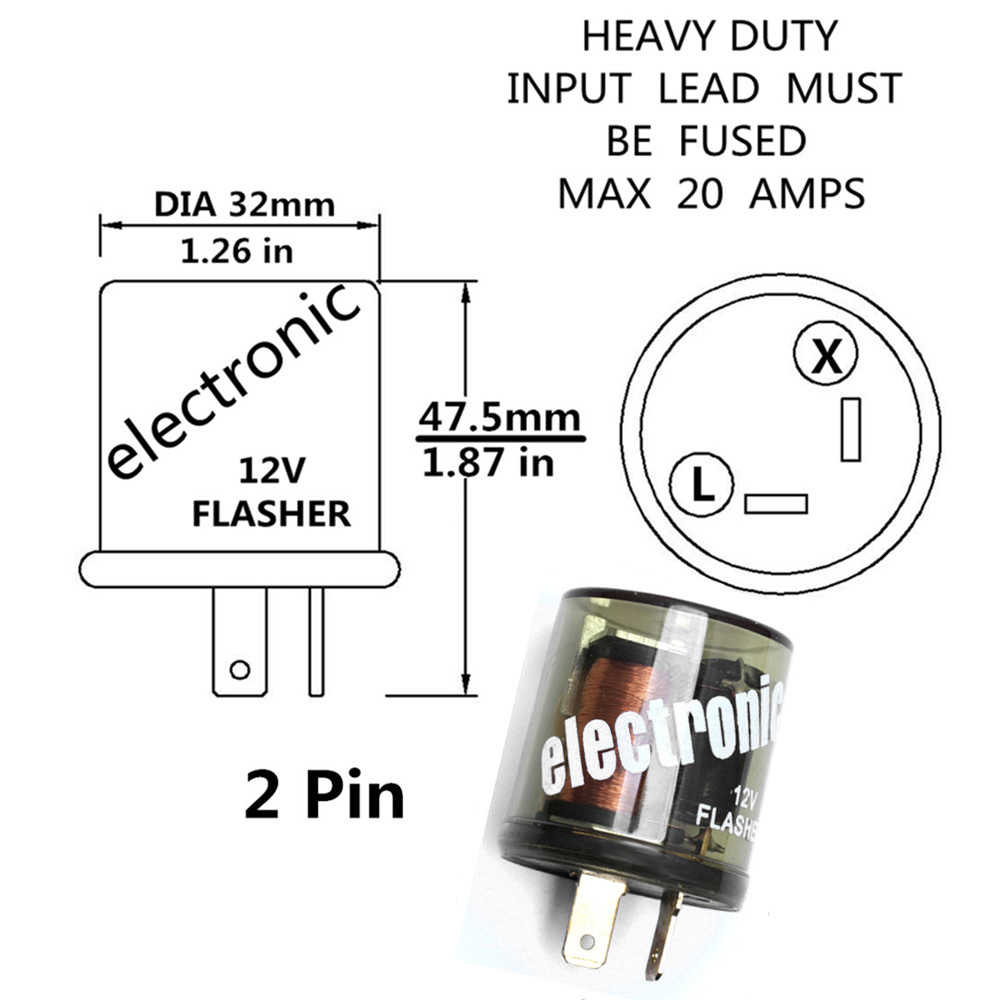 12v 2 Pin Flasher Heavy Duty Compatible Electronic Fixed Flasher Turn Signal Flasher Relay For Cars Motorcycles Signal Flasher Relay Turn Signal Flasher Relayflasher Relay Aliexpress