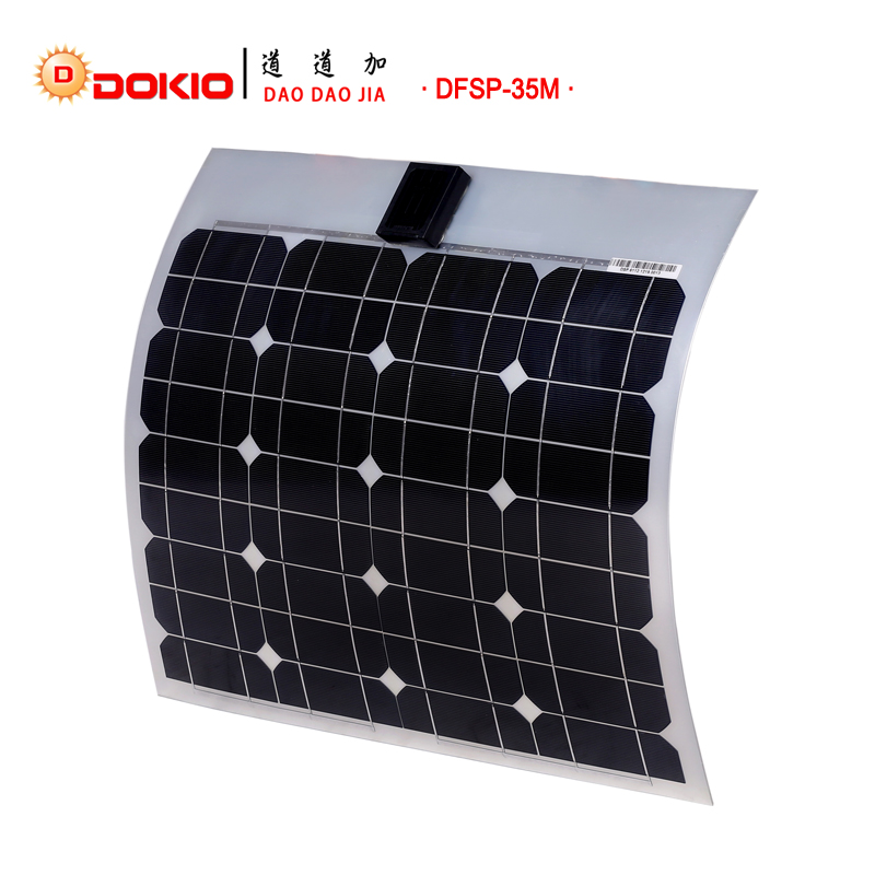 Dokio Brand Flexible Solar Panel 35w Monocrystalline