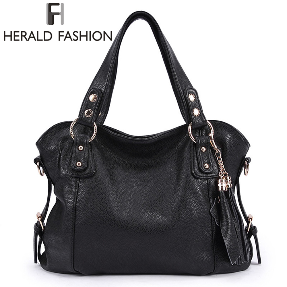 Large Handbags Women Messenger Bags Famous Brands Designer Shoulder Bag Big Top-handle Tote Bolsa Feminina New Herald Fashion chispaulo women genuine leather handbags cowhide patent famous brands designer handbags high quality tote bag bolsa tassel c165