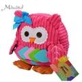 Sozzy Cute Kid Plush School Backpacks 25cm Animal Figure Bag Kid Girls Boys Gifts Toy Owl Cow Frog Monkey Schoolbag High Quality