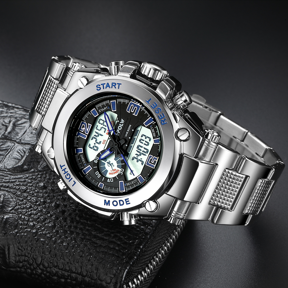 Montre homme Sports LED Horloge à quartz numérique