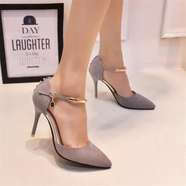 Zapatos grises sexy para mujer IYfYhdxmWp