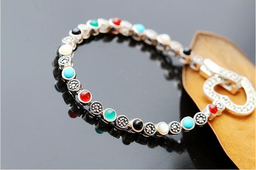 Bijoux en argent en gros la main bracelet en argent bracelet en argent 925 pur argent dame bracelet