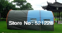2017 free shipping 8 10 persons tunnel outdoor camping two bedroom and one living room extra huge disaster relief tent on sale