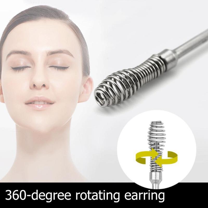 7pcs/set Ear Wax Pickers Cleaner Stainless Steel Earpick Wax Remover Curette Ear Pick Cleaner Ear Cleaner Spoon Epiwax 2