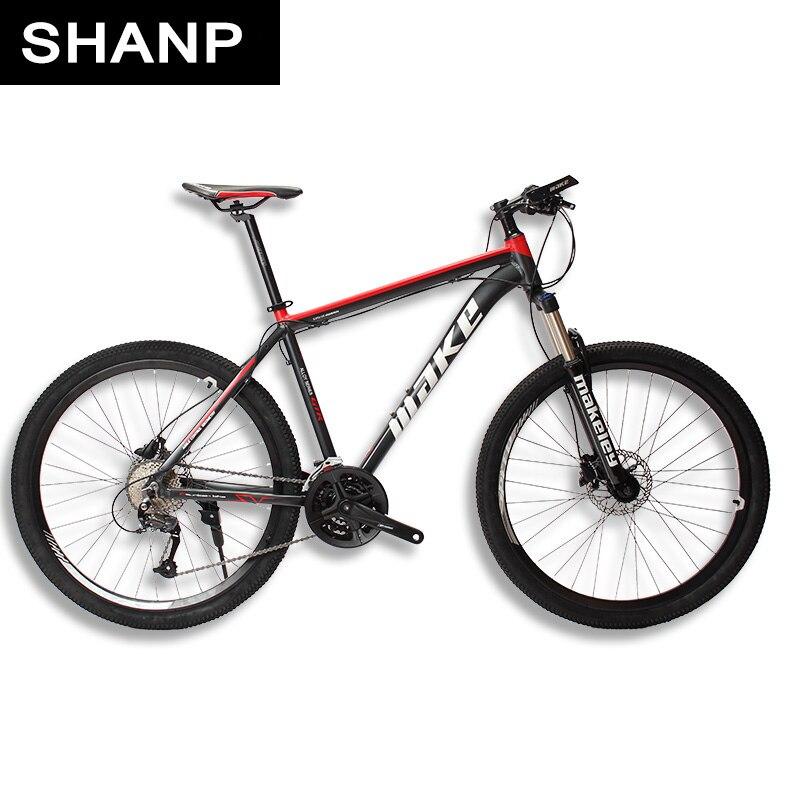 MAKE Горный велосипед алюминиевая рама 17 19 27 скоростей Shimano гидравлические/механические дисковые тормоза 26 27,5 колеса MTB Mountain Bike Aluminum Frame