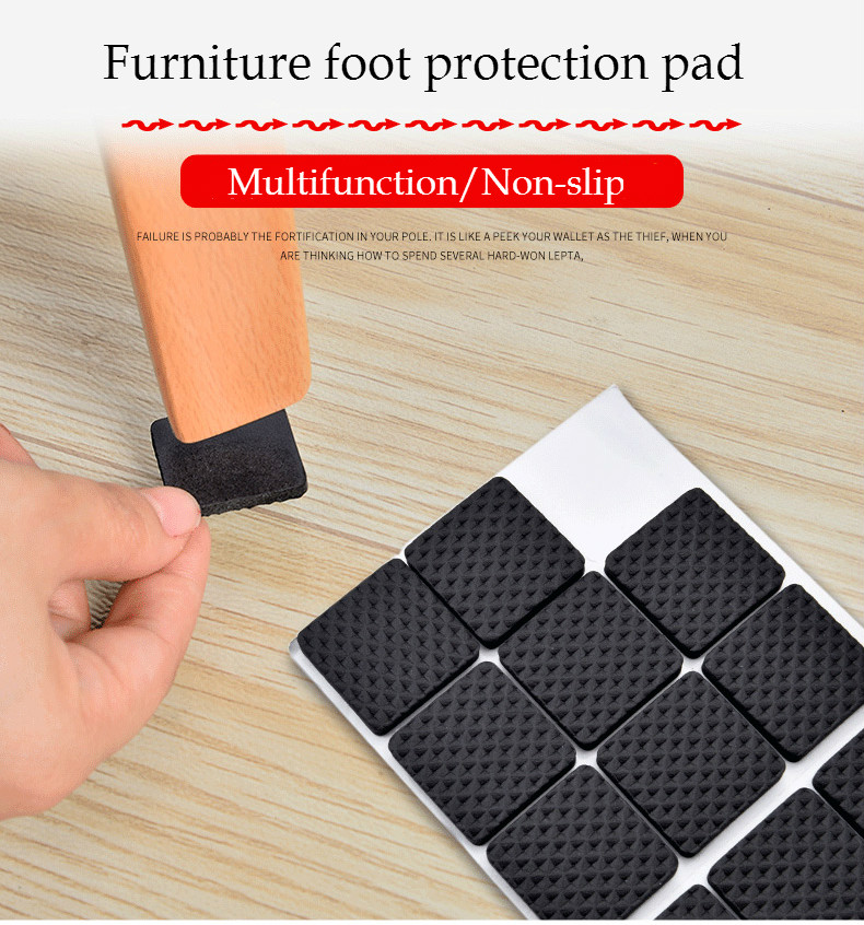 Furniture Feet Protector Pads Tables And Chairs Leg Caps Plastic Mat Skid Protective Anti-Slide Cover Table Covers Round Bottom