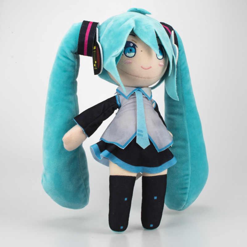 Novo 33 cm Anime Hatsune Miku Vocaloid Série Neve Hatsune Miku Toy Plush Doll Macio Stuffed Figura Brinquedos Para As Crianças Meninas presentes