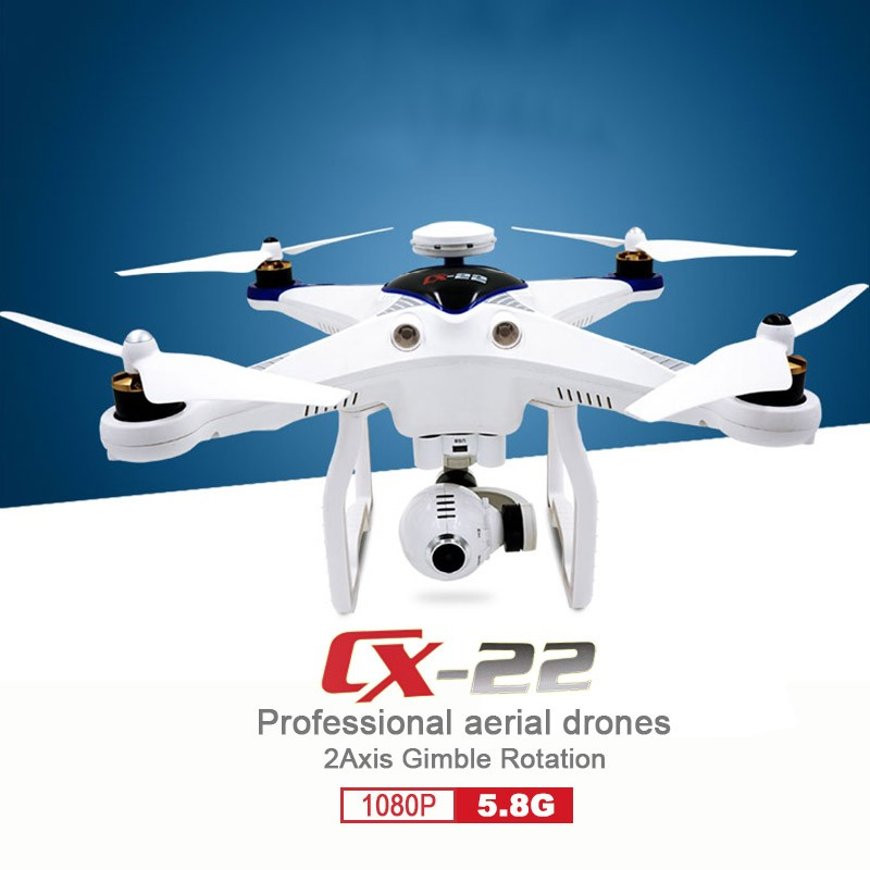 2017 new selfie hobby CX-22 RC Drones 6-axis Dual GPS Track Auto Follower 5.8G FPV RC Quadcopter with 1080P HD camera VS QR X350
