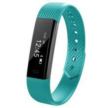 Hot Sale ID115 Smart Bracelet Fitness Tracker Watch Alarm Clock Step Counter Smart Wristband Band Sport Sleep Monitor Smartband