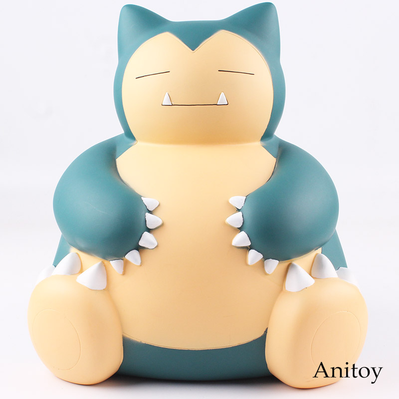 Anime Game Figure Snorlax Action Figure Piggy Bank Money Saving Box Safe Money for Child Gift Toy 23cm no face male piggy bank hiccup sound money coin storage container bins kids toys funny gadgets anime action figure 3 styles