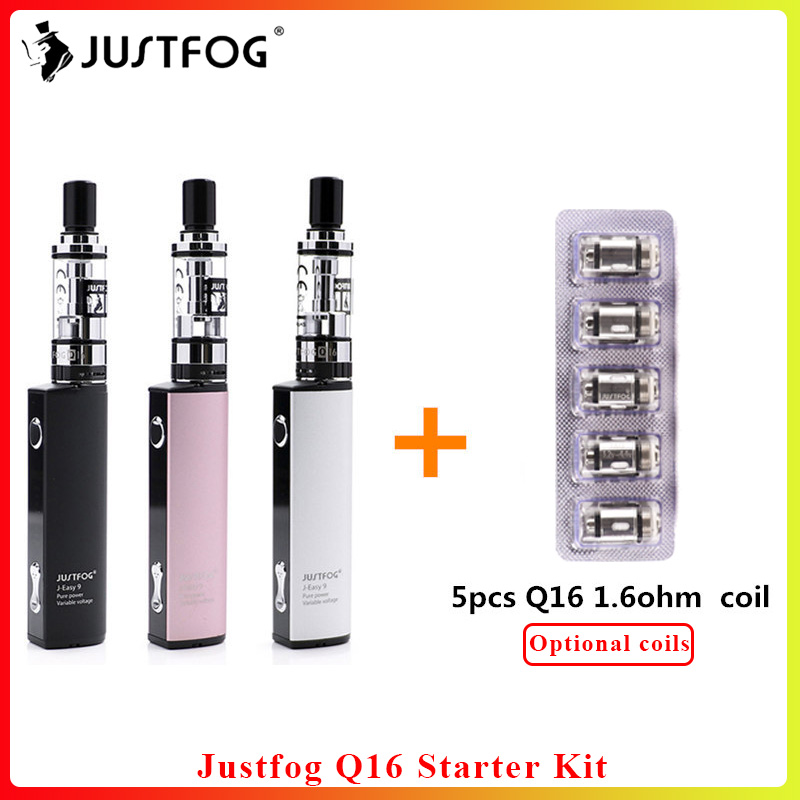 Bigsale Original Justfog Q16 Starter Kit Gift 5pcs Justfog Q16 Coil New Electronic Cigarette Vape Pen Kit With Q16 Clearomizer
