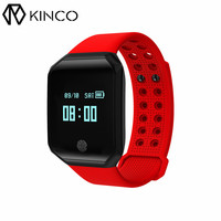 KINCO OLED Bluetooth IP67 Blood Oxygen Heart Rate Detection Bracelet Distance Call Message Smart Wristbands For