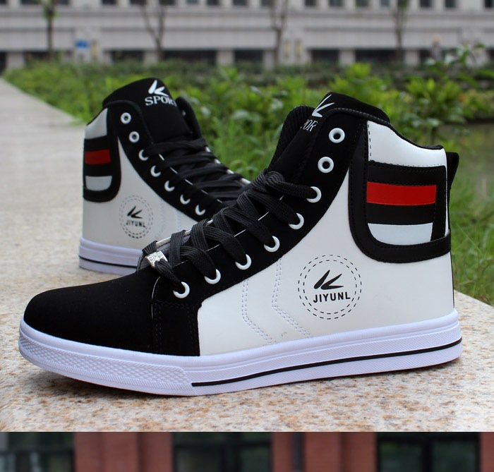 HTB1iPQ0XinrK1RjSsziq6xptpXaU - HUANQIU Brand Men Shoes 2018 Spring Fashion Boots Shoes Man High Top Shoes Men Lace Up Casual Shoe Chaussure Plus size 45 ZLL434